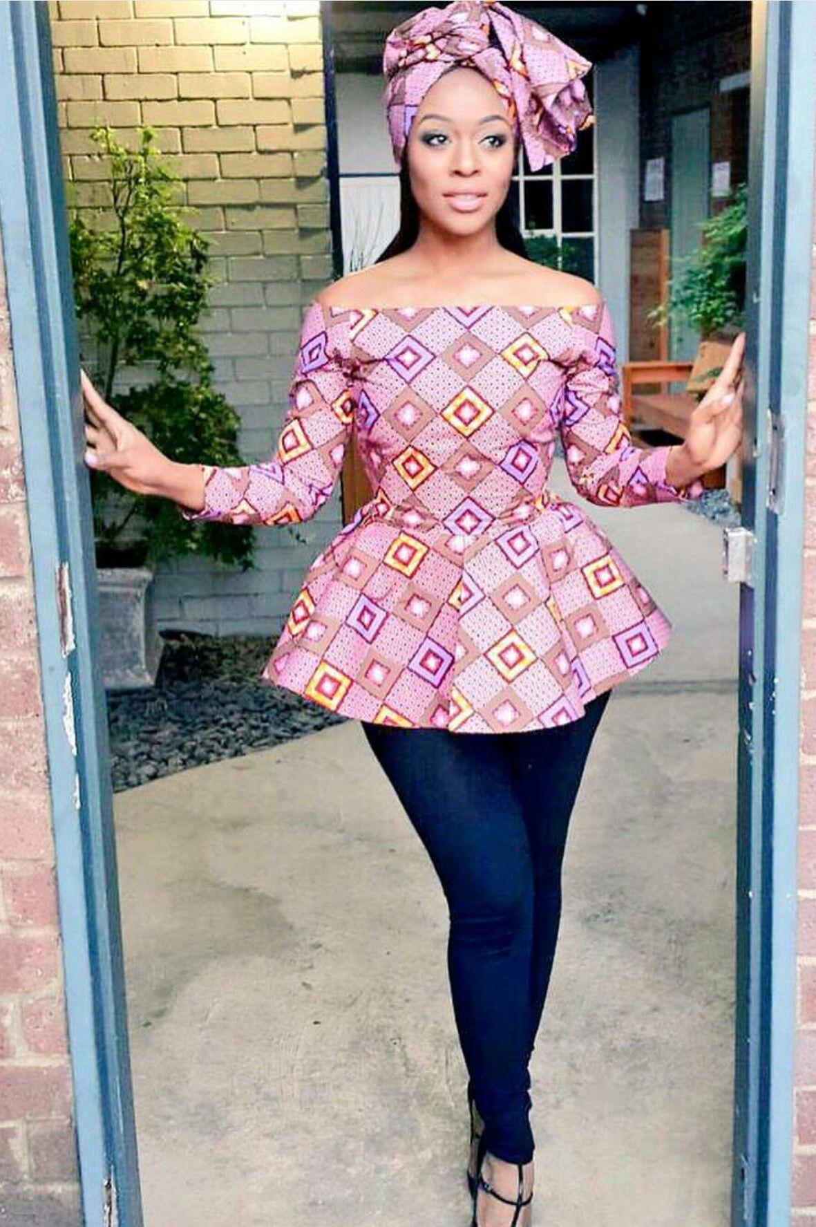 pingl par natasha sur my style african print pinterest pagne mode africaine et tenue. Black Bedroom Furniture Sets. Home Design Ideas