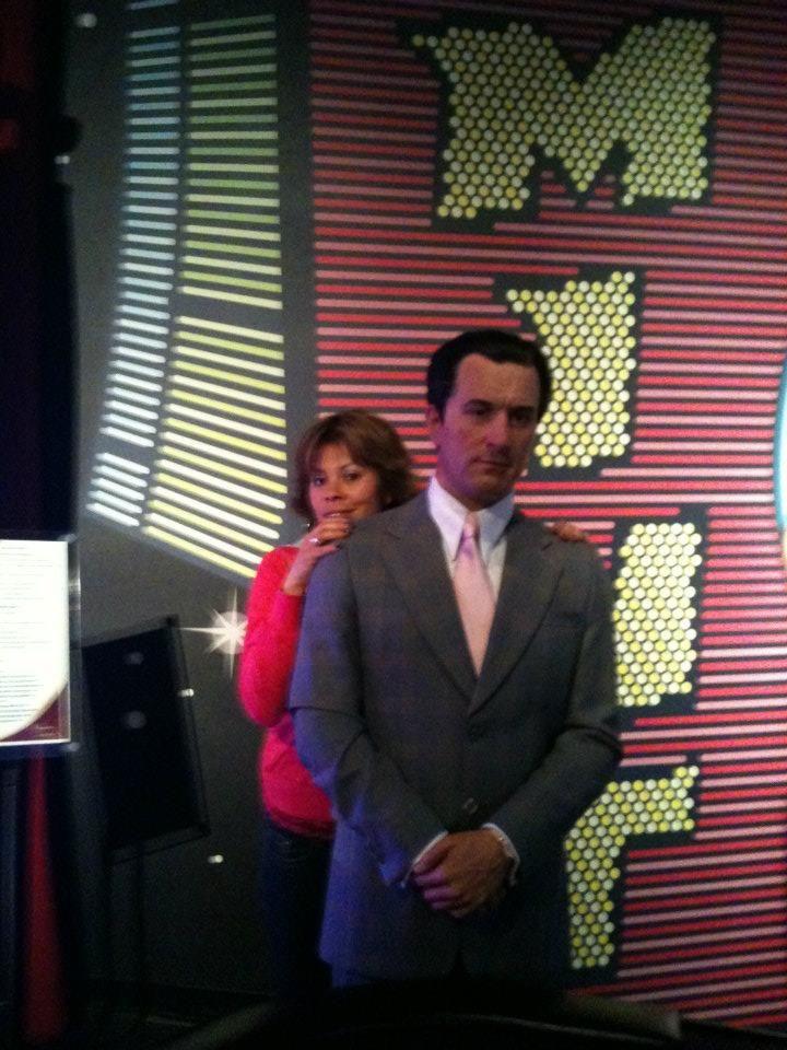 With Robert DeNiro at Paris Las Vegas Hotel & Casino.