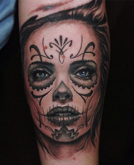 Tatouage santa muerte recherche google dotd pinterest id e tatouage tatouages et art - Santa muerte tatouage signification ...