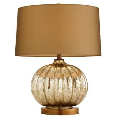 Arteriors home burke ribbed taupe mercury glass table lamp arteriors table lamp