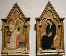 Annunciazione, 1388, Los Angeles County Museum of Art. Bartolo di Fredi,