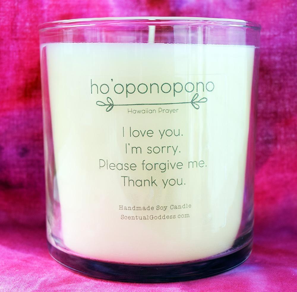 Ho 'Oponopono Candle ~ Hawaiian Forgiveness Prayer ~ I Love You, I'm