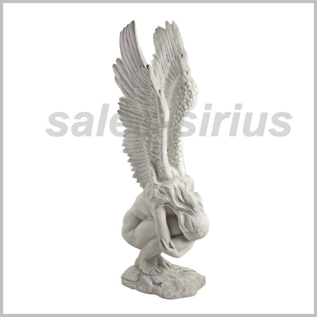 Garden Statue Sculpture Angel Figure Emotional Outdoor Female Religious Ornament | eBay