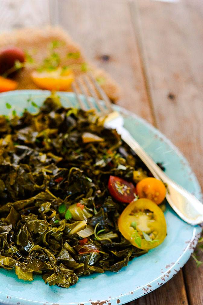 Vegan Southern Style Collard Greens Recipe Vegan In 2019