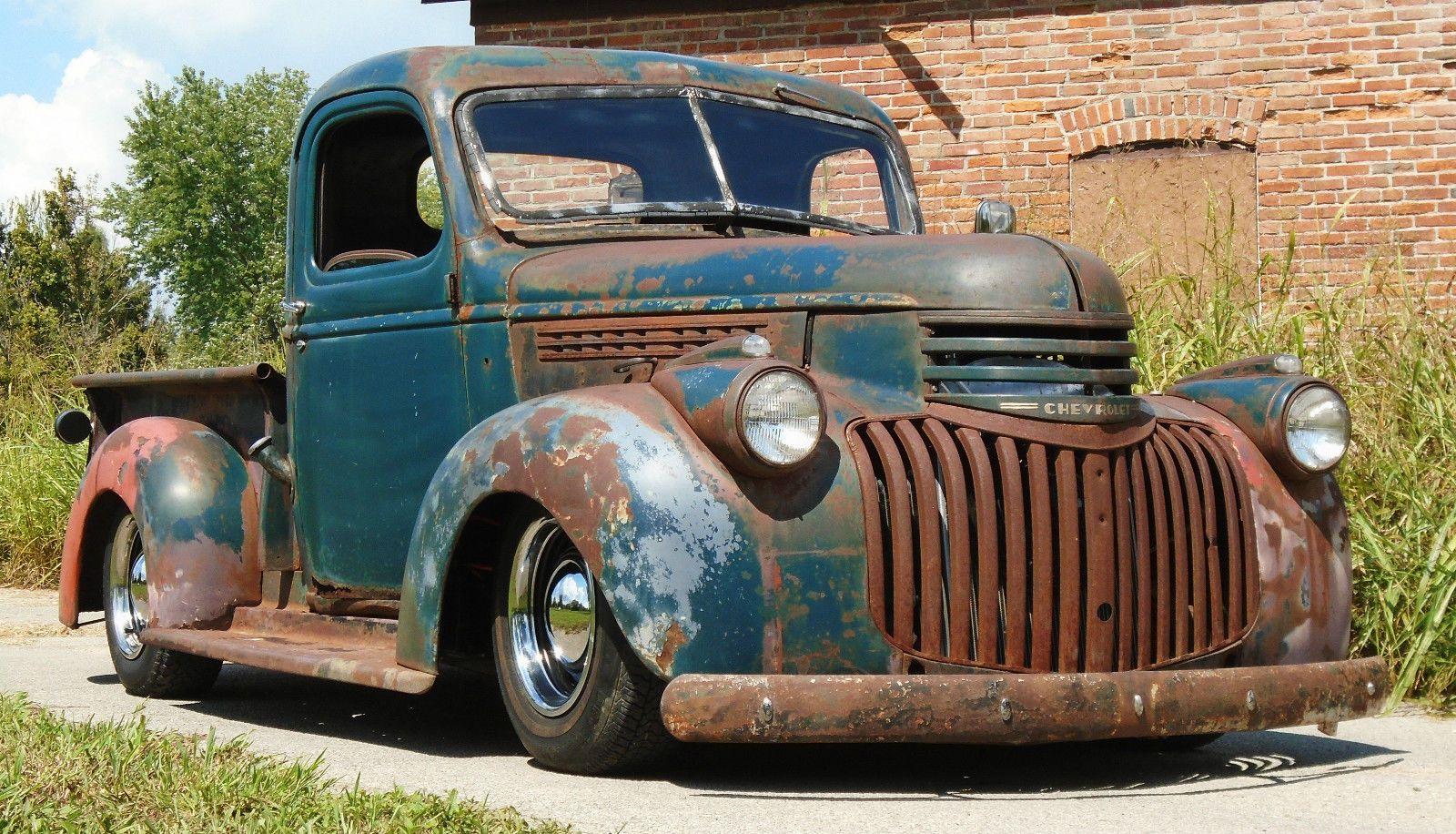 A Sweet 1945 Classic Cars Trucks Old Ford Trucks Vintage Pickup Trucks