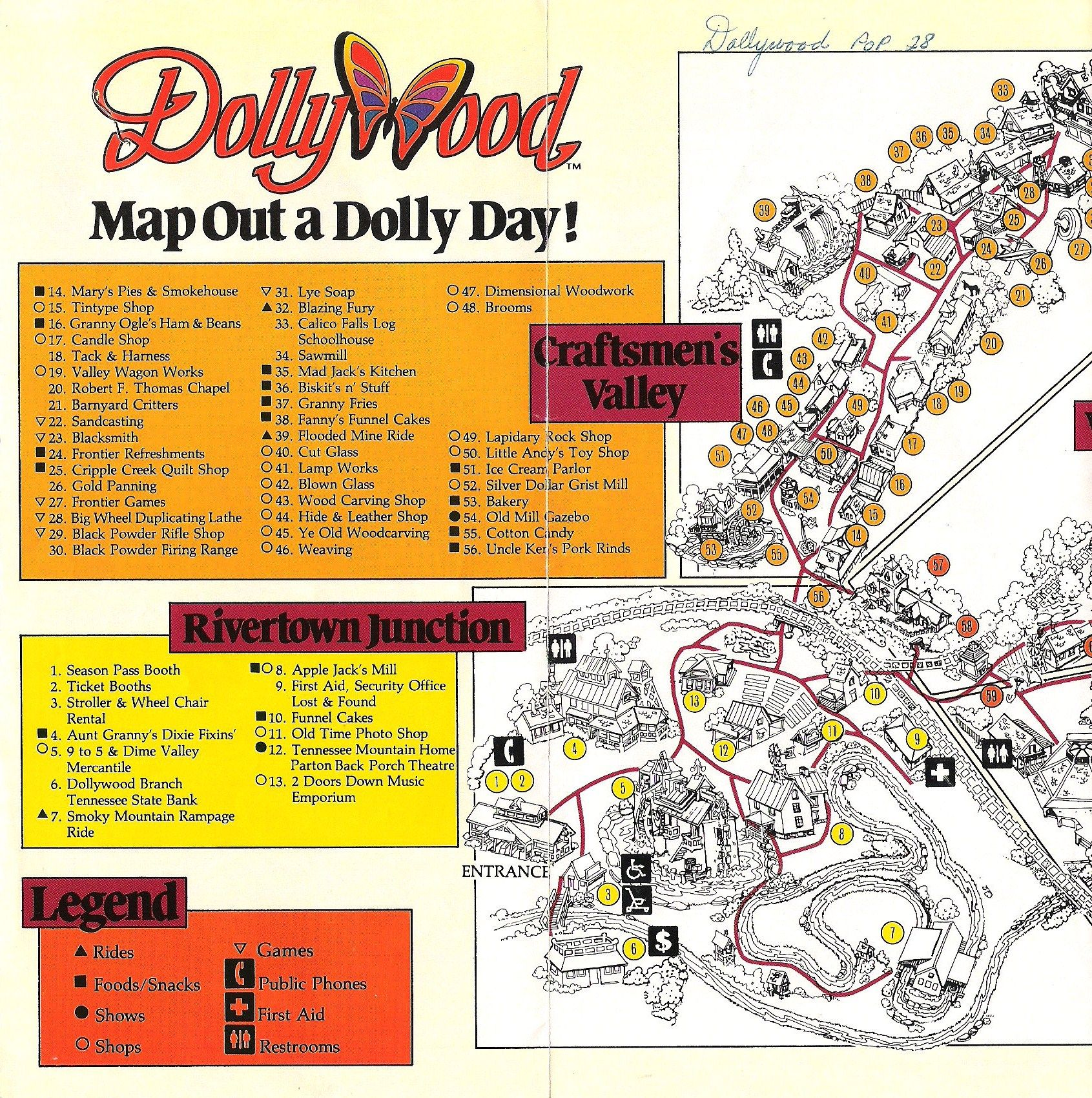 photograph regarding Dollywood Printable Coupons titled Flashback: The Dollywood Targeted visitors Expert Map versus 1986