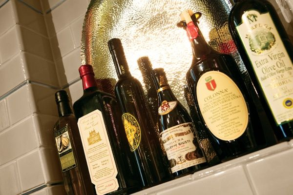 Smart way to display bottles as part of your decor. #Kitchen