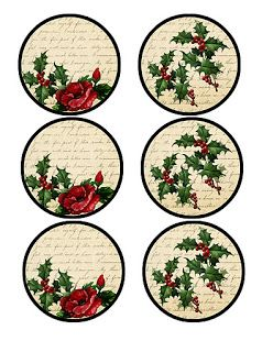 PRINTABLE CHRISTMAS GIFT TAGS Laminas decoupage LABELS NAVIDEAS