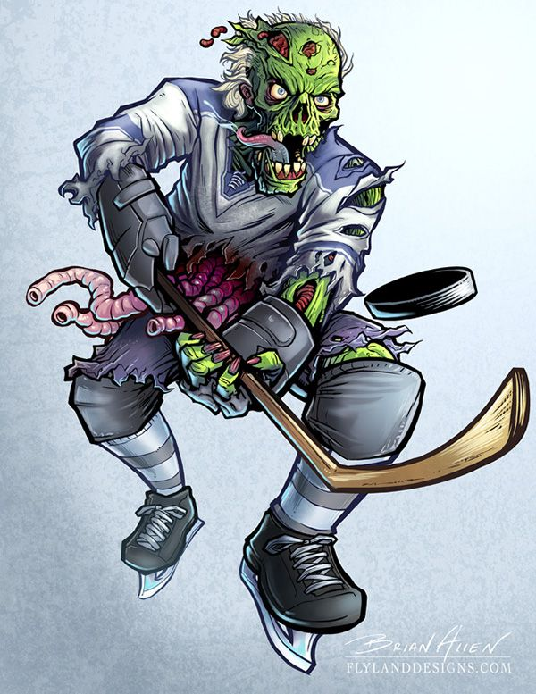Lethal Threat Zombie Hockey Player On Behance With Images Hockey Tattoo Character Design Character Art