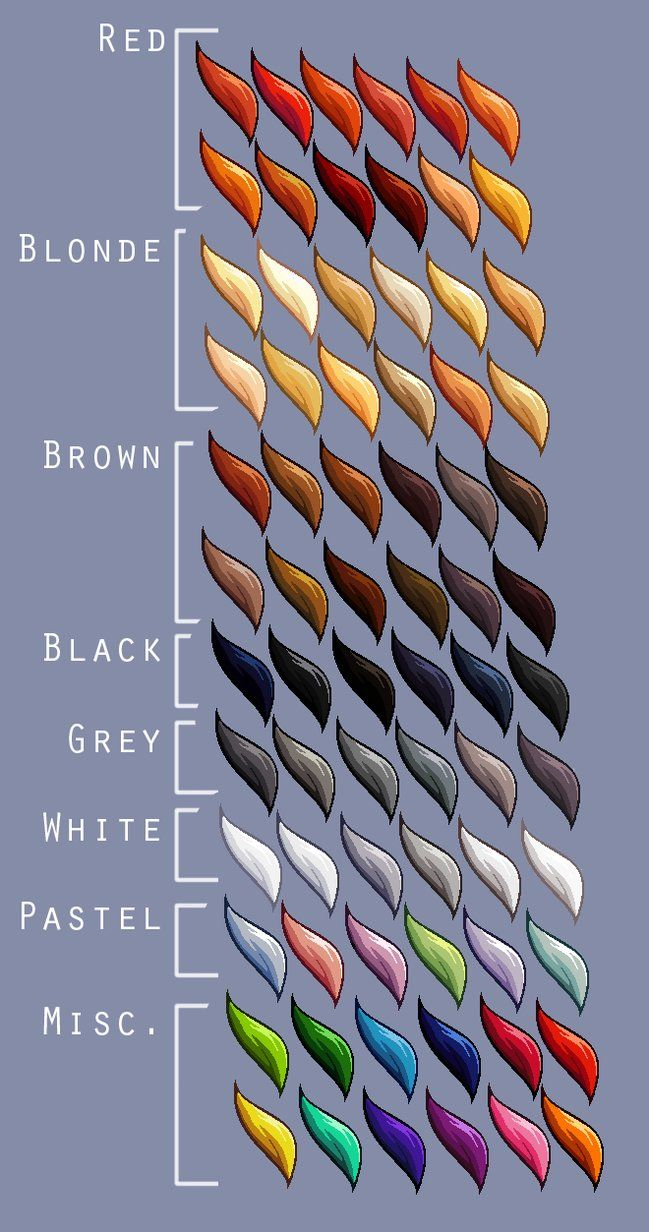 Hair colour swatches SUPREME by Lizalot Palette art