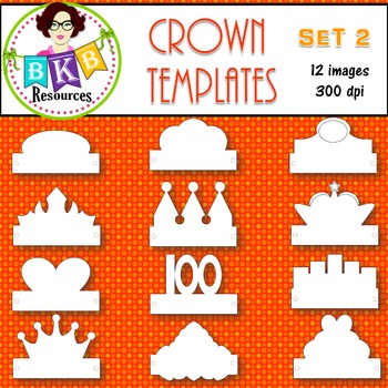 Clip Art  Crown  Templates  Products For Tpt Sellers