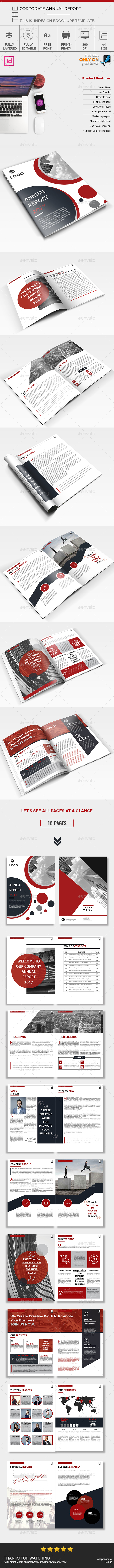 Annual Report 2017 Template InDesign INDD | Annual Report Designs ...