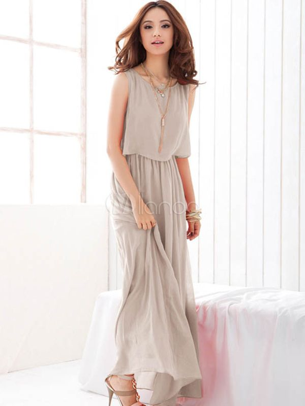 Attractive Sleeveless Chiffon Womens Maxi Dress | Maxi dresses ...