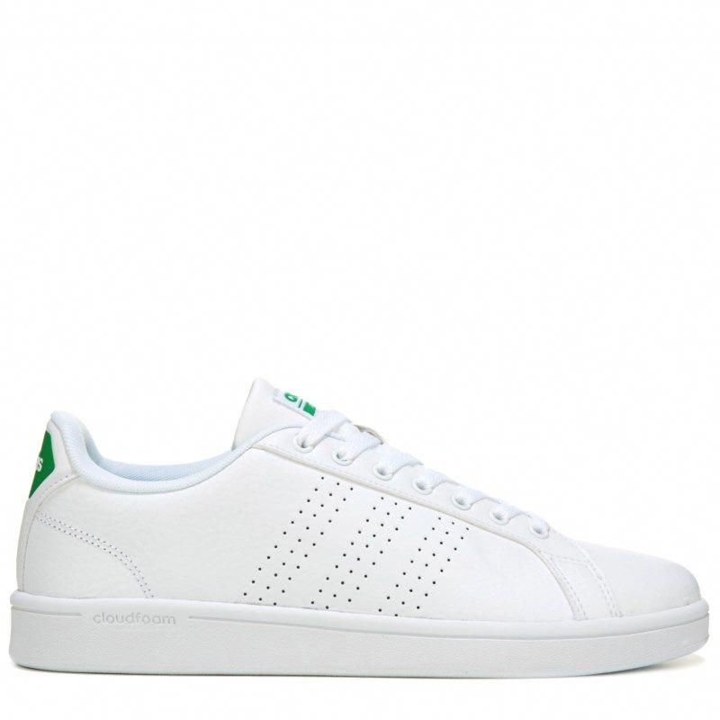 Adidas Men's Neo Cloudfoam Advantage Clean Sneakers (White