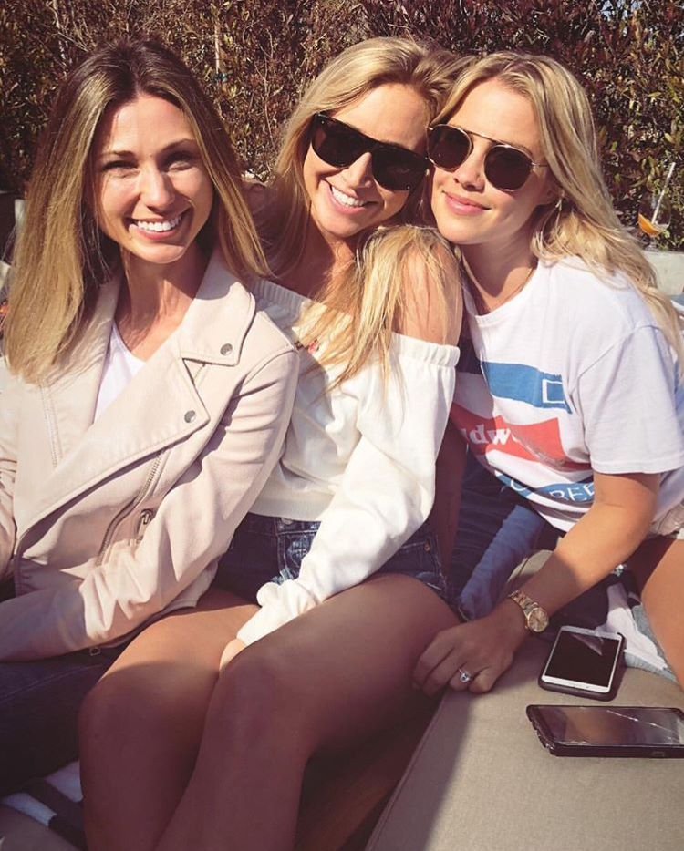 Claire Holt celebrating her friend's birthday on April 29