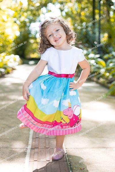 Vestido Peppa Pig Rosa Malwee Kids