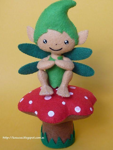 Duende de fieltro. Felt Elf. | feltro | Pinterest | Filzen, Puppen ...