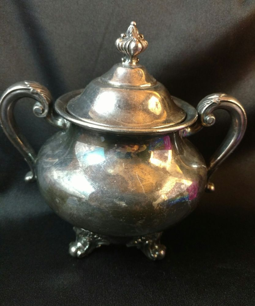 Reed and Barton Regent 5600 Silverplate Sugar Bowl w Lid | Bowls and ...