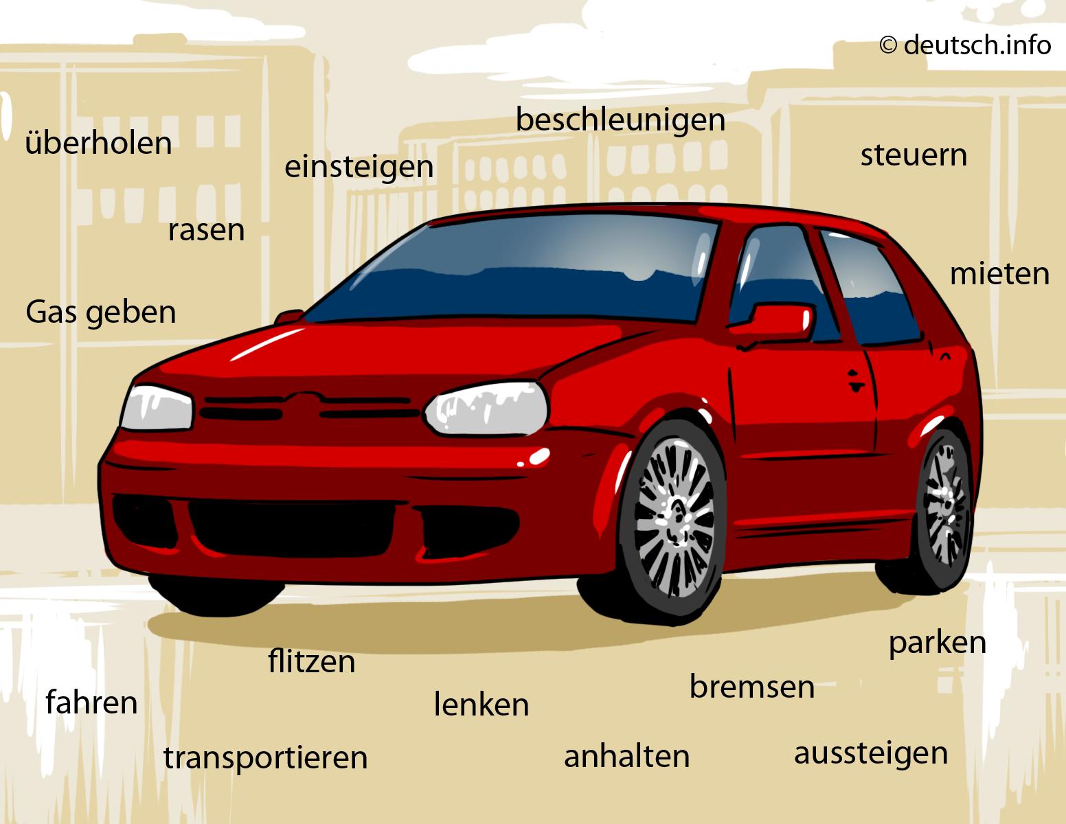 Auto 3 Verben