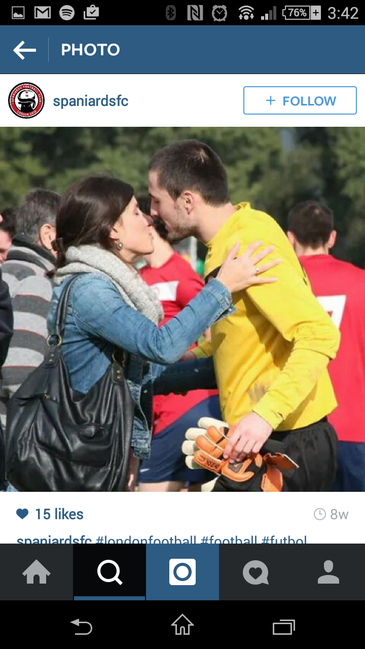 Hot girl - kissing hot guy in a fivas shirt after the game.  The idea is to give the aspiration lifestyle/sex appeal part to the brand