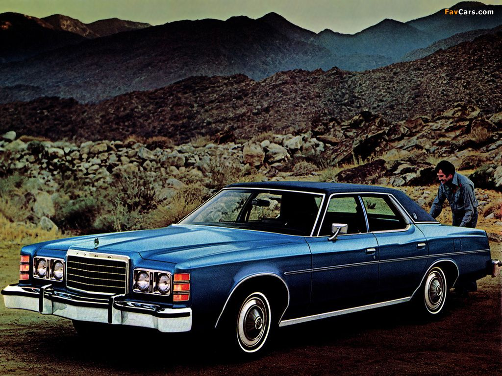 1977 Ford Ltd Sales Literature Featuring The 4 Door In Blue Glow With Optional Vinyl Top Ford Ltd American Classic Cars Ford America