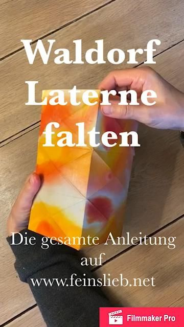 Photo of Waldorf Laterne falten / Knicklaterne / Origami-Laterne
