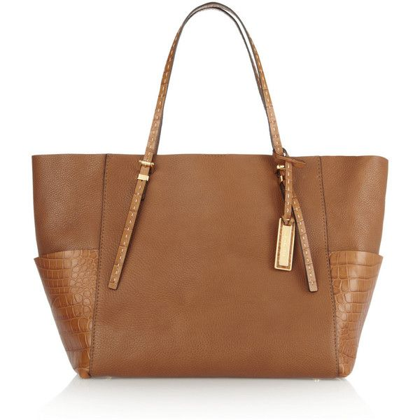 Michael Kors Gia textured-leather tote ( 995) found on Polyvore ... bd7744d68b