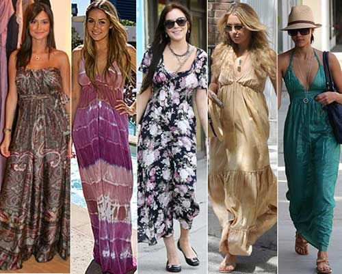Vestido hippie feminino
