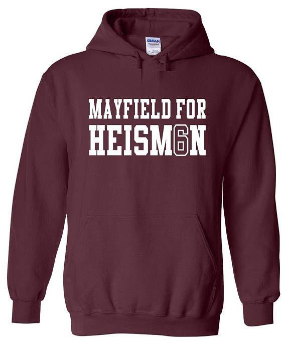 best service a495c c31ea Baker Mayfield Oklahoma Sooners Heisman jersey shirt Hooded ...