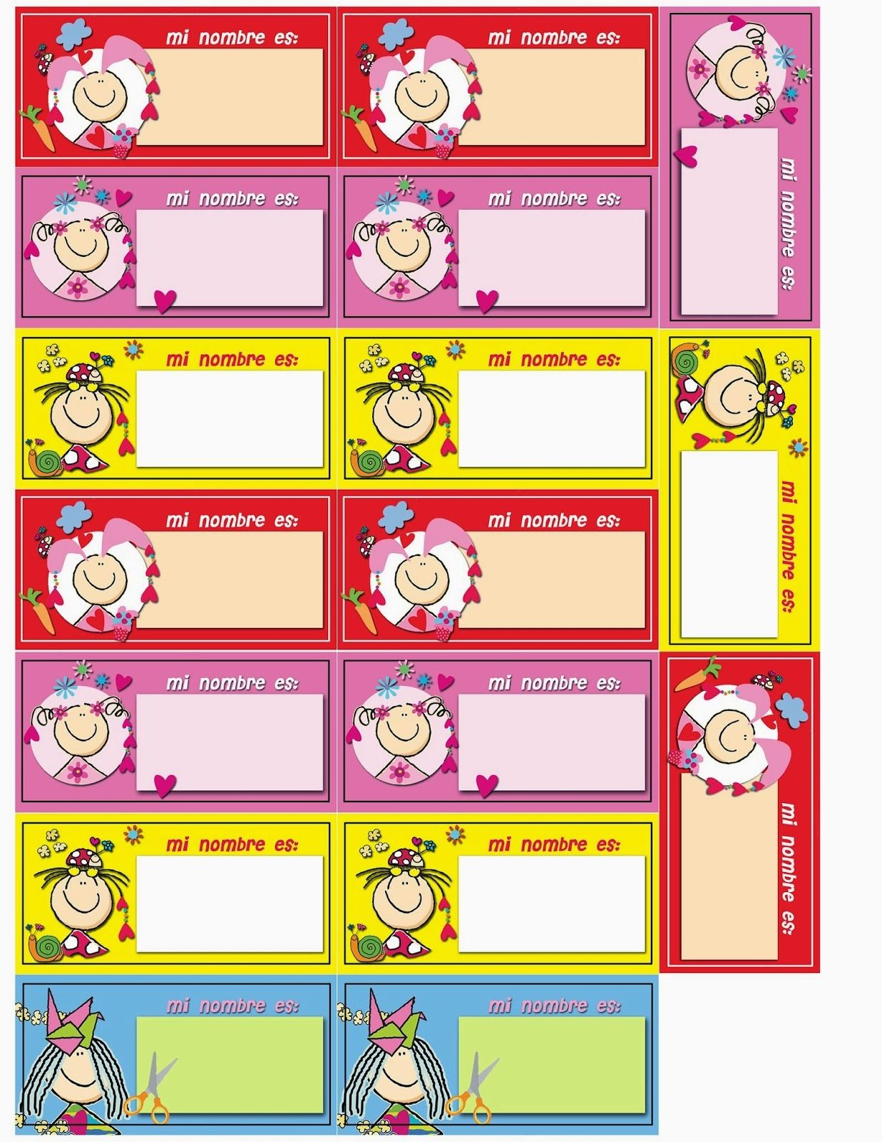 Gafete Nios Gafetes T Printable Tags Tags And Printables