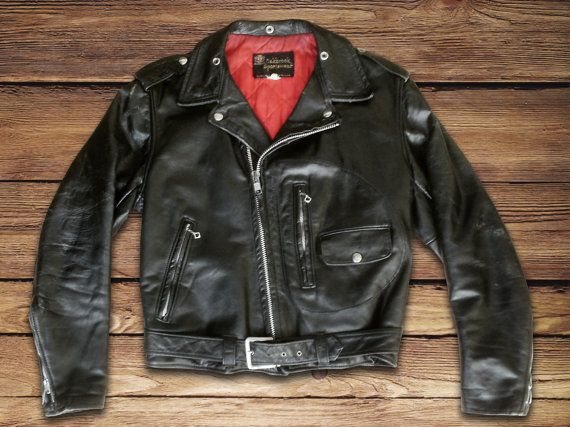 50s Steerhide Sears Oakbrook D Pocket Motorcycle Jacket Etsy Jackets Vintage Leather Jacket Leather Jacket