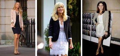 blazer + lace dress