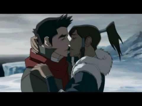 Korra And Mako Kiss Legend Of Korra Korra Avatar Korra
