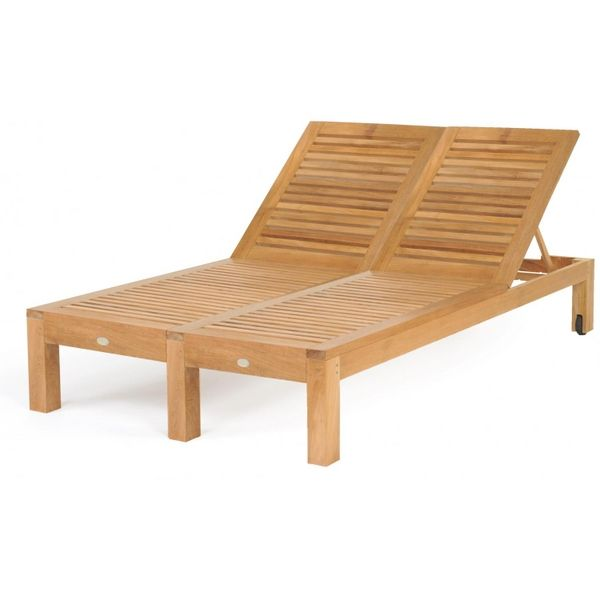 Teak Double Chaise Lounge By Caluco