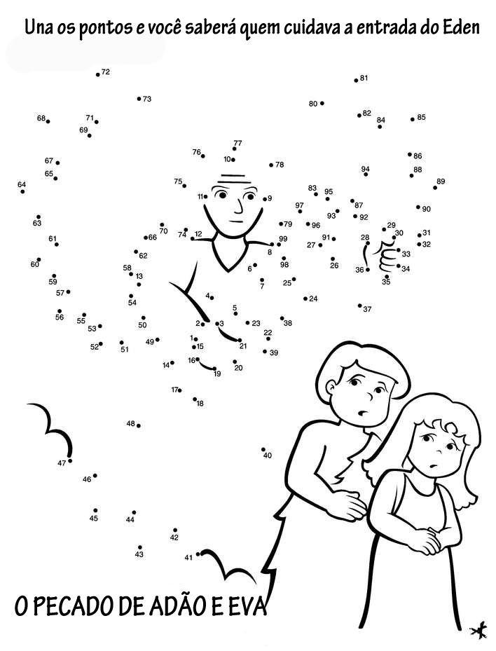Adão e Eva | Dot to dots | Pinterest | Une los puntos, El punto y Puntos