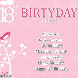Happy 18th Birthday Wishes To My Daughter Happy 18th Birthday Quotes Birthday Wishes For Myself Happy Birthday Wishes Quotes
