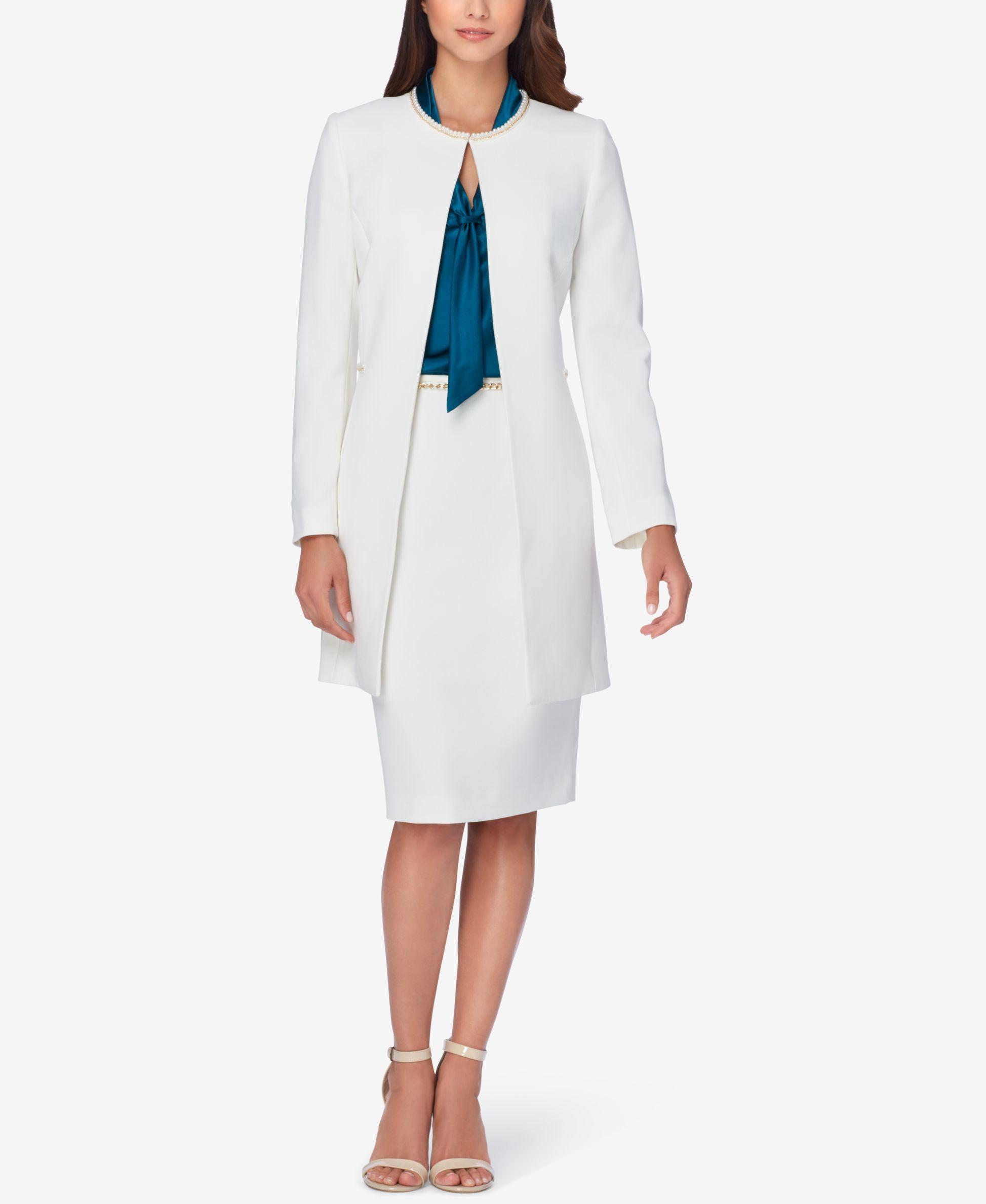 2f7df011585 Tahari Asl Petite Embellished Topper Jacket