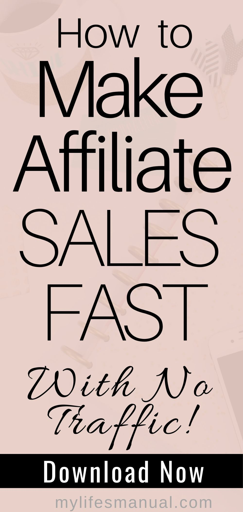 Want to quickly make affiliate sales with a new blog? Wondering how long it takes to make money from affiliate marketing when you don't have enough blog traffic? Learn how to earn and increase your affiliate income even without a ton of blog traffic using the affiliate marketing strategies in this post. #affiliatemarketing #bloggingtips #blogtips #affiliatesales #makemoneyonline #makemoneyblogging