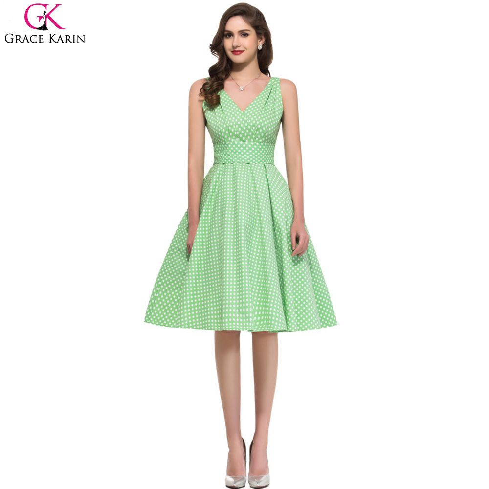 Cheap dresses china, Buy Quality dress ross directly from China dresses long for party Suppliers:      Hot Sale Fashion Sweetheart Dress Woman Dresses Fashion Grace Karin Cotton VNeck 50s Vintage Dresses Rockabill