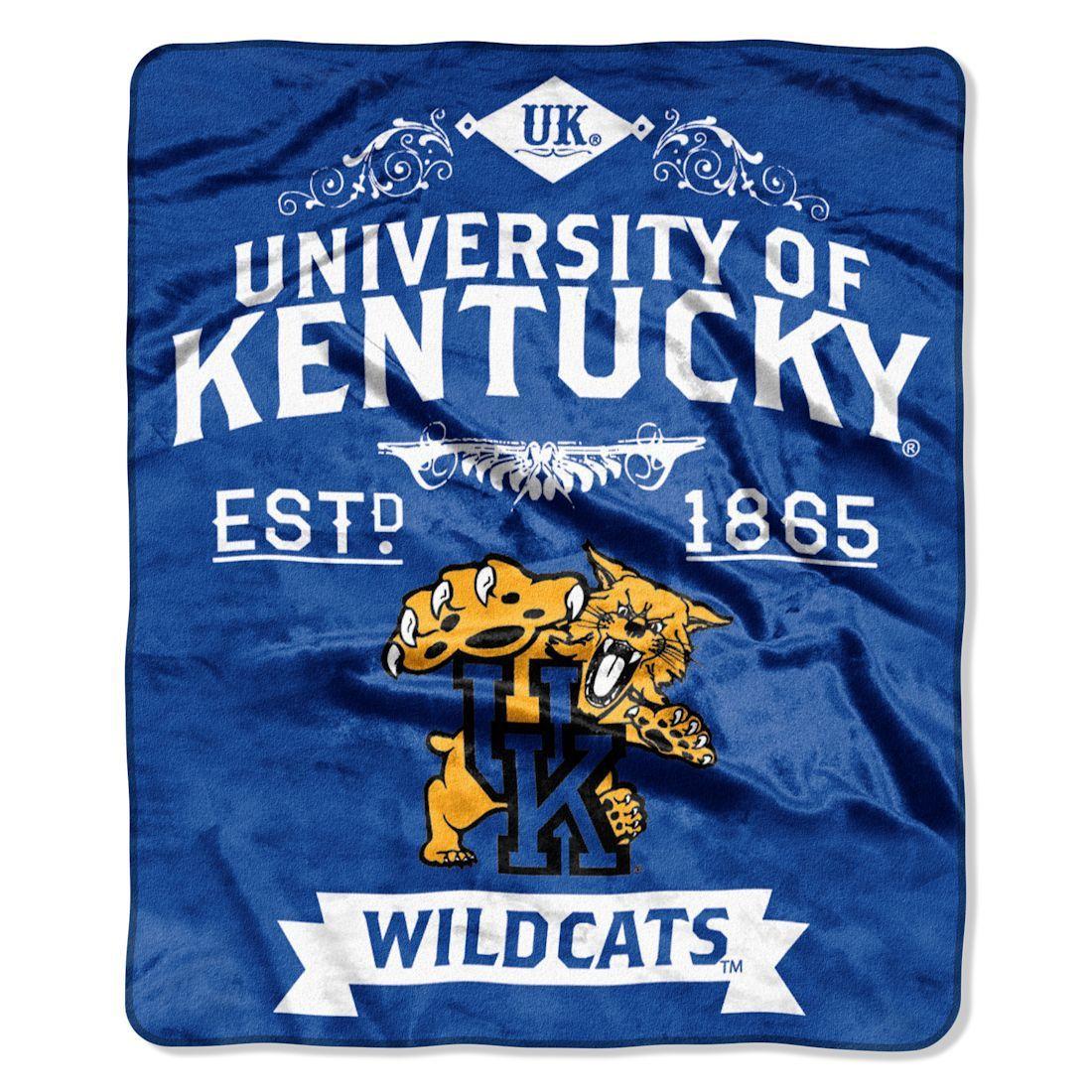 "Kentucky Wildcats 50""x60"" Royal Plush Raschel Throw"