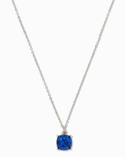 Glittery Solitaire Pendant Necklace | Fashion Jewelry - Delicates | charming charlie