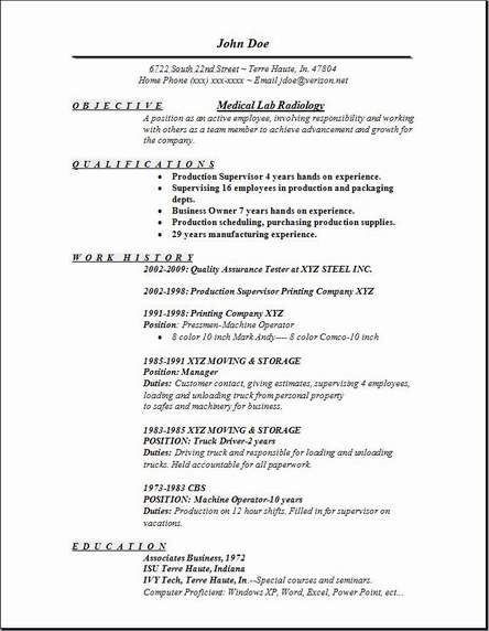 X Ray Resume Examples Resume Objective Sample Resume Objective Statement Resume Skills