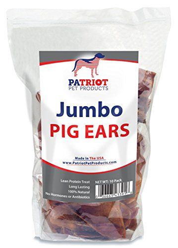 Pig Ears For Dogs By Patriot Pet 100 Natural Free Of Additives Hormones And Antibiotics Usda Approved Jumbo Sized Pig Ears For Dogs Pig Ears Pet Pigs