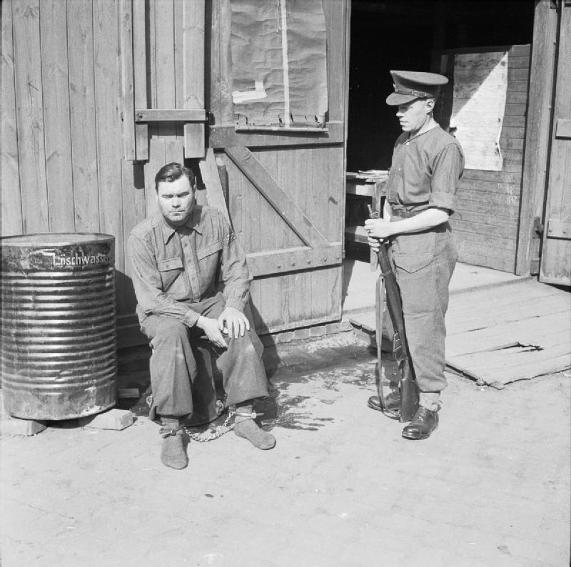 Josef Kramer, former Camp Commandant of Bergen-Belsen ...