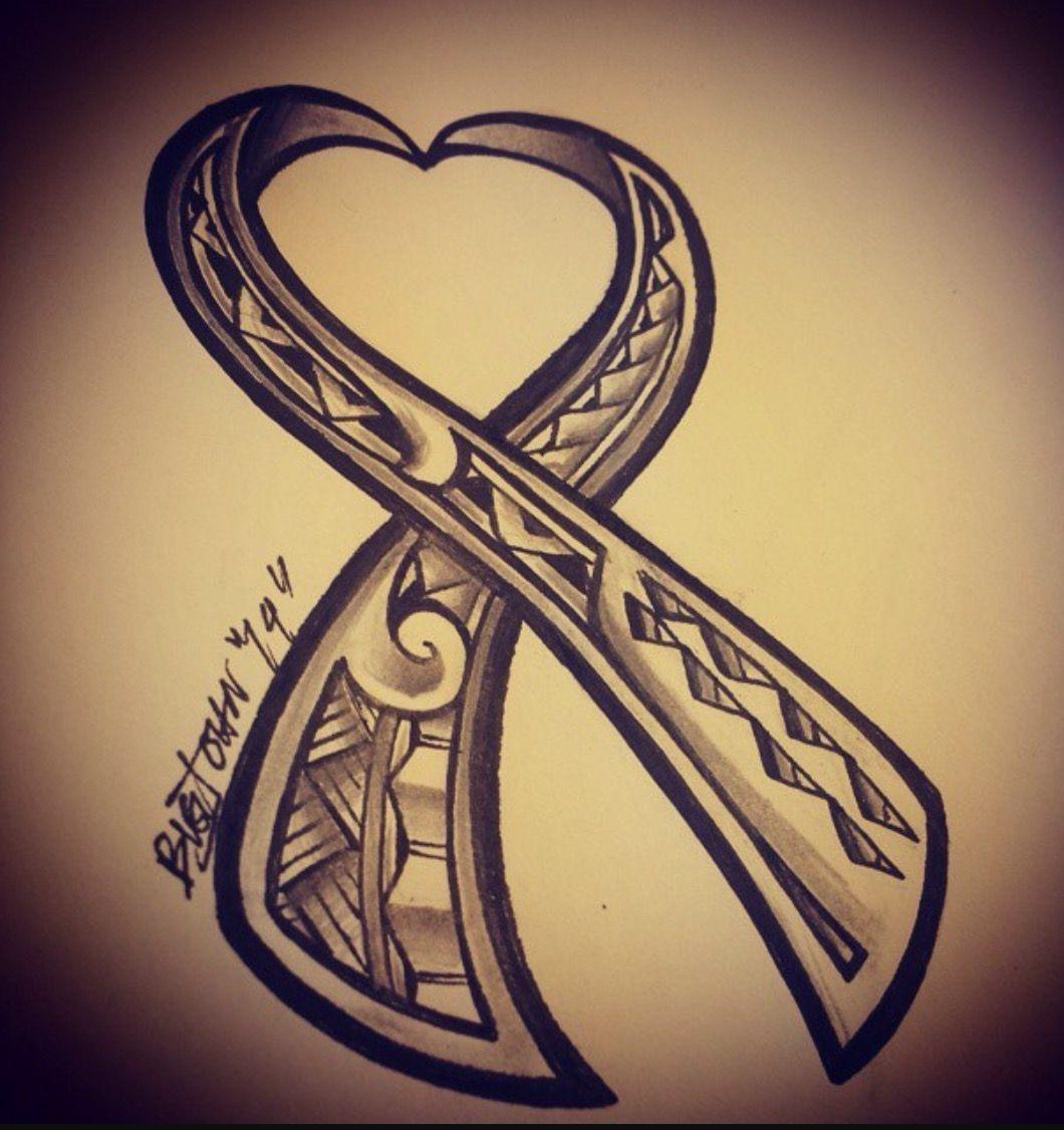 Polynesian Version in tribute to cancer awareness. | Tatuajes y uñas ...