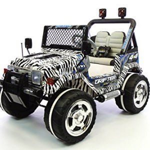 Jeep Wrangler Zebra Style Kids Ride On Power Wheels Rc Parental