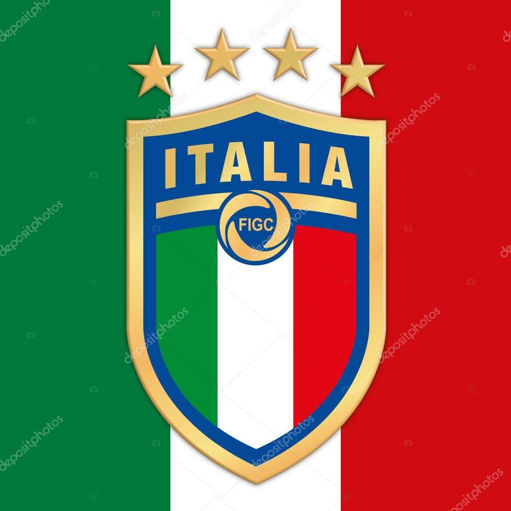 Rome Italy Year 2017 New Logo Italian Football Federation Figc On Italian Flag Fotos Do Palmeiras Bandeira Italia Futebol Fotos