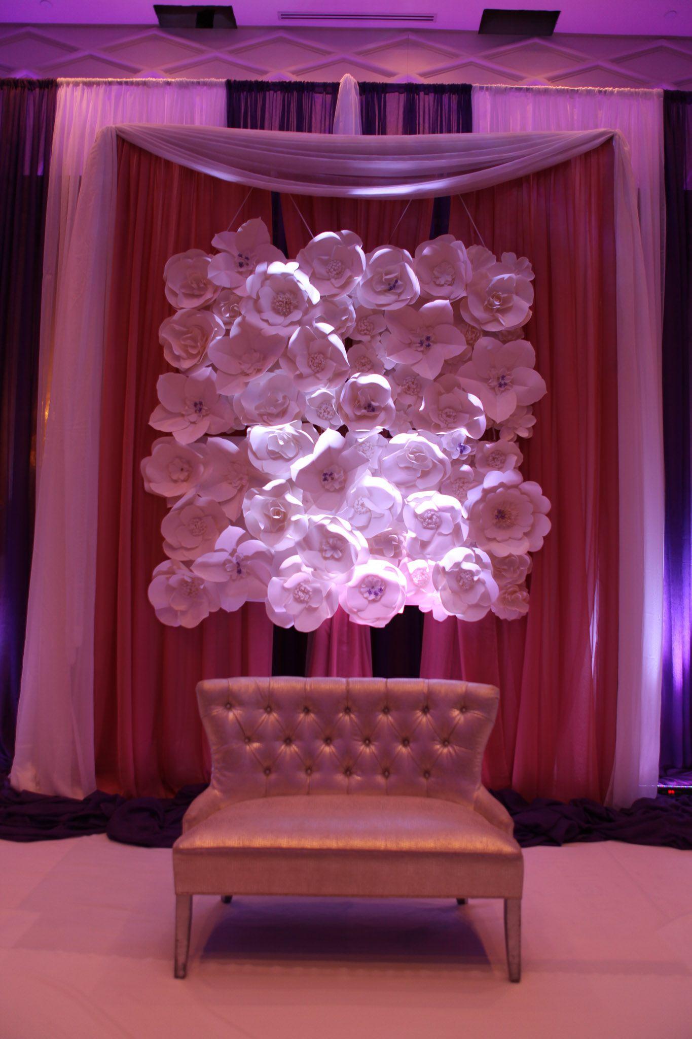 Large paper Flower Backdrop  Wedding designed by