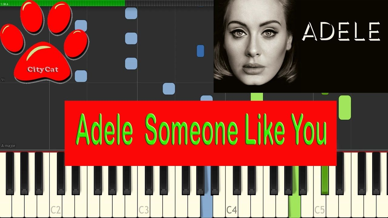 Adele someone like you easy piano tutorial by citycat adele someone like you easy piano tutorial by citycat synthesia baditri Image collections
