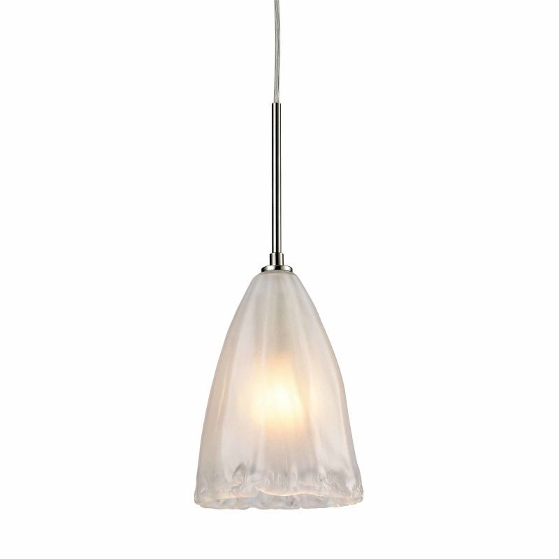 Lighting 104491 calipsa single light 6 wide mini pendant with elk lighting 104491 calipsa single light 6 wide mini pendant with round canopy satin nickel indoor lighting pendants aloadofball Image collections